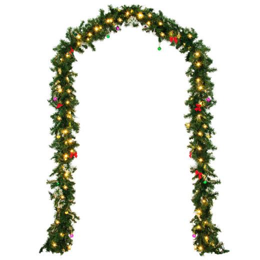 Weihnachtsgirlande 5m mit 80 LEDs inkl. Deko für In- & Outdoor