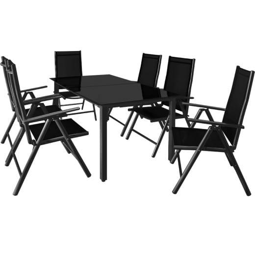 Sitzgruppe Bern 7-tlg. Anthrazit Alu