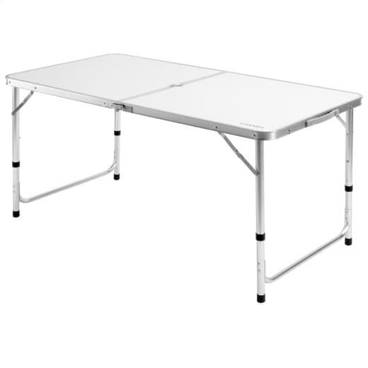 Campingtisch Weiß Aluminium 120x60x70cm klappbar