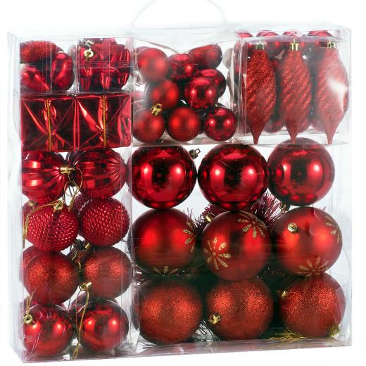 Weihnachtsbaumkugeln Rot 103-tlg.