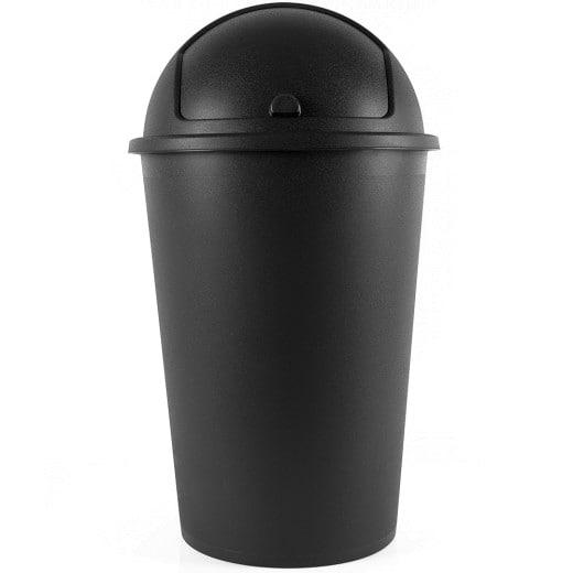 Mülleimer Schwarz Kunststoff 50L