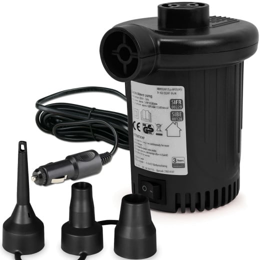 Elektrische Luftpumpe 12 V, 580l/min, 90W + 3 Adapter