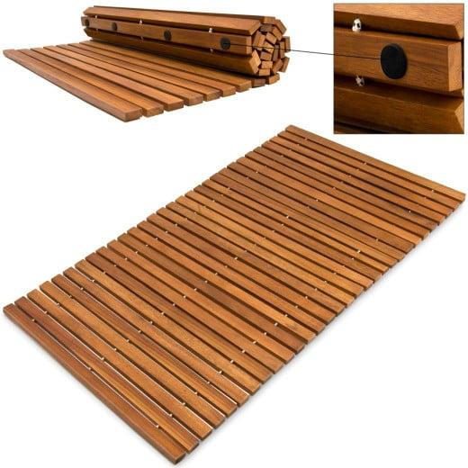 Badematte aus Akazienholz