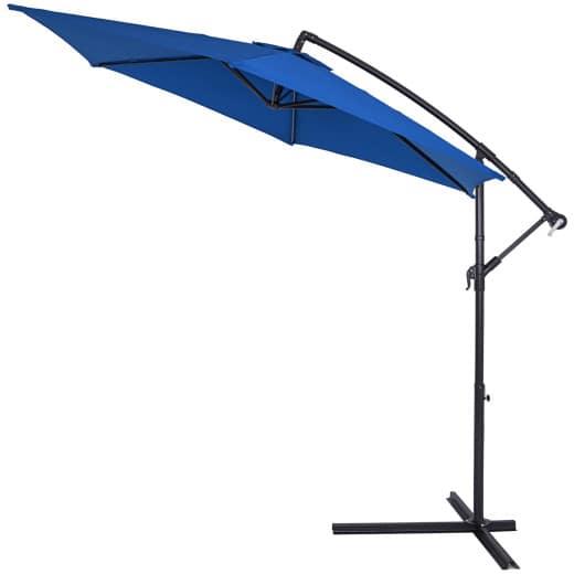 Ampelschirm Blau Alu Ø330cm UV-Schutz 40+