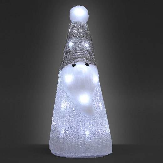 LED Acryl Figur Weihnachten Santa Weiß