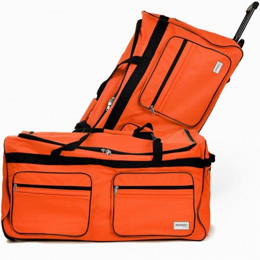 XXL Reisetasche mit Trolleyfunktion 160L orange
