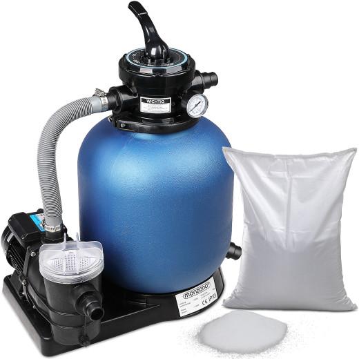 Sandfilteranlage 9.960 L/h mit Vorfilter/Filterglas
