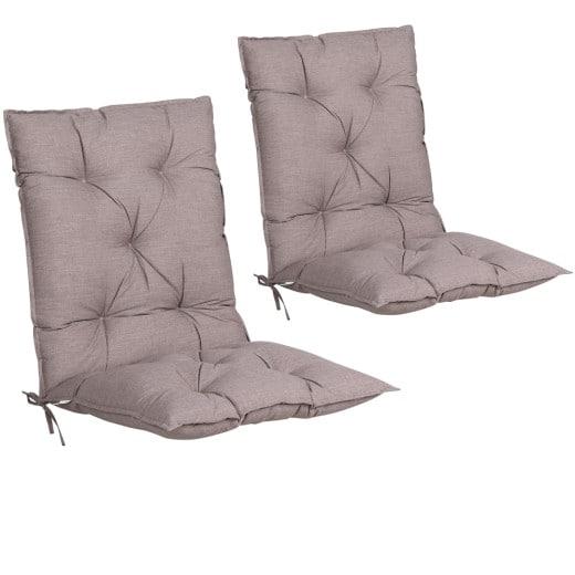 Sitzauflagen 2er-Set Creme meliert 116x57x7cm