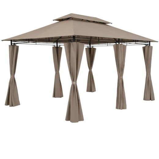 Pavillon Topas Taupe 3x4m UV-Schutz 50+