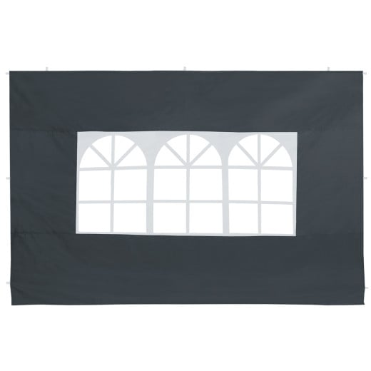 2er-Set Seitenwände Faltpavillon in Anthrazit 3x2m