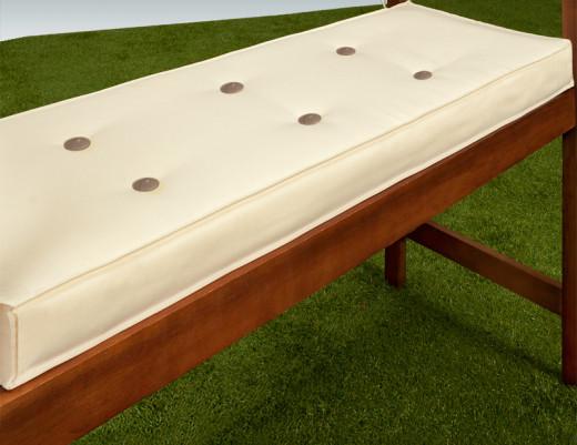 Sitzauflage Bank Creme 145x45x7cm