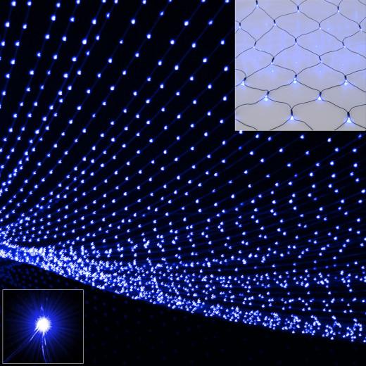 Netzlichterkette 200 x 150cm mit 160 LEDs Blau