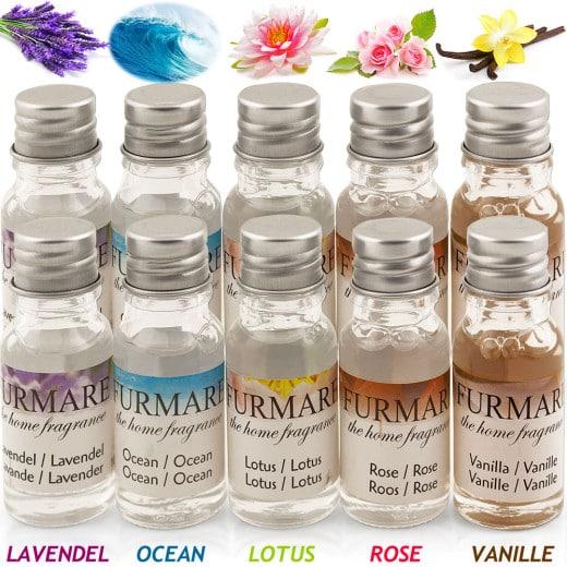 10 x 10ml Duftöl Lavendel - Ocean - Jasmin - Rose - Vanille