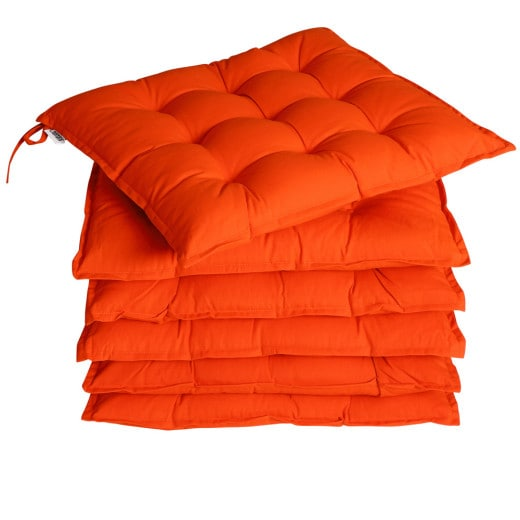 Sitzkissen 6er-Set Cozy Orange