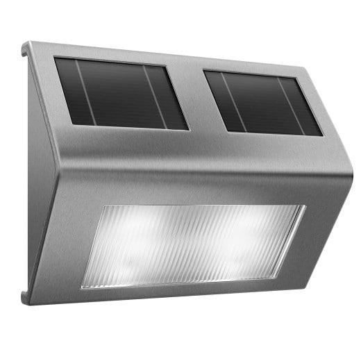 LED Solar Wandleuchte Edelstahl