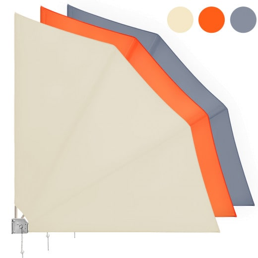Balkonfächer 140x140 cm klappbar, 3 verschiedene Farben