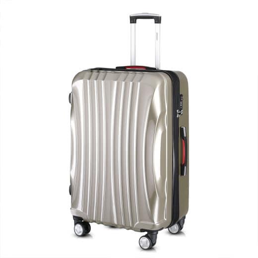 Koffer Hartschale Ikarus Champagner XL aus ABS 105-154l 78x53x33cm