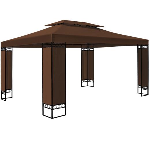 Pavillon Elda in Braun XXL 3x4m