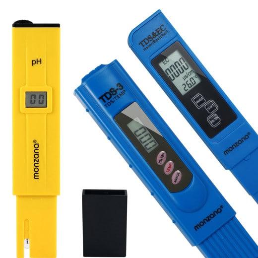 Digital LCD Wasser Messgerät | 2in1 TDS - Temp | 2in1 TDS - EC - Temp | PH Messg