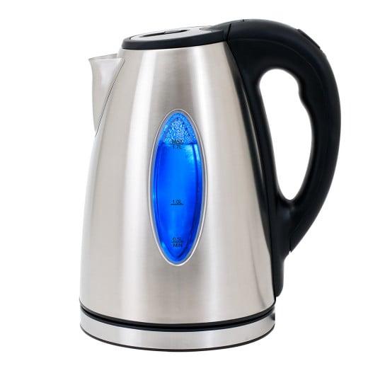 Wasserkocher Silber/Schwarz Edelstahl 1,7L