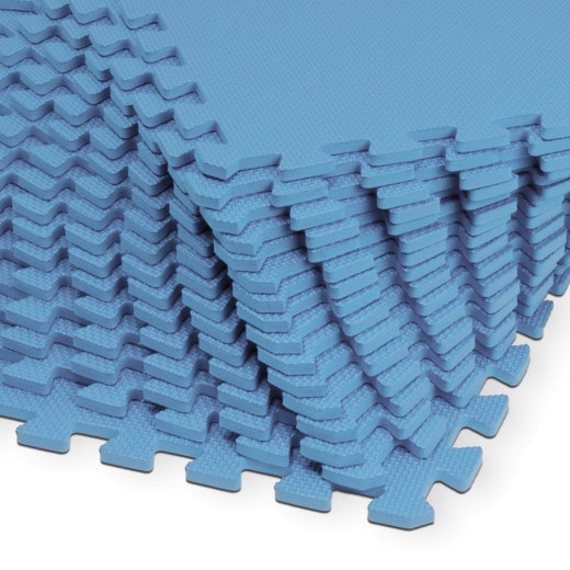 Bodenschutz-/Puzzlematte 8tlg. Blau 180x90x1cm