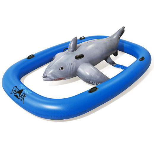 Bestway Badetier Haifisch Grau-Blau 297x188x71cm