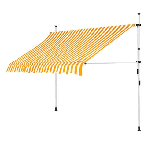 Clamp Awning Yellow/White 8ft