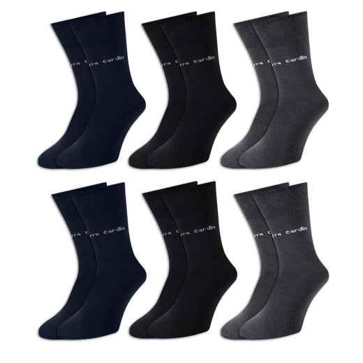 Pierre Cardin Socken 6er-Pack Farbmix Gr. 43-46