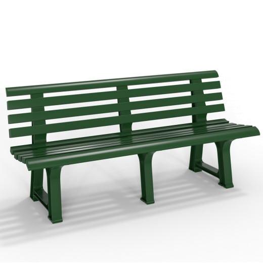 Kunststoff Gartenbank grün