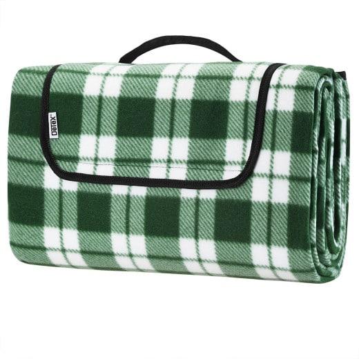 Picknickdecke Karo/Grün 2x2m