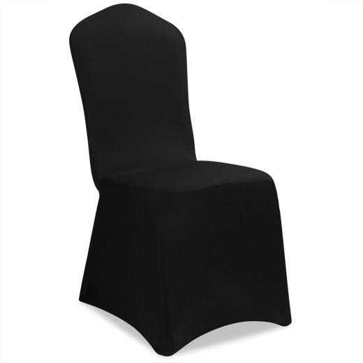 4er Set Stuhlhussen in schwarz