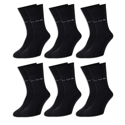 Pierre Cardin Socken 6er-Pack Schwarz Gr. 43-46