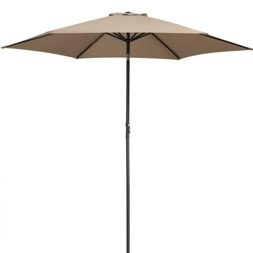 Sonnenschirm Taupe Alu Ø300cm UV-Schutz 40+