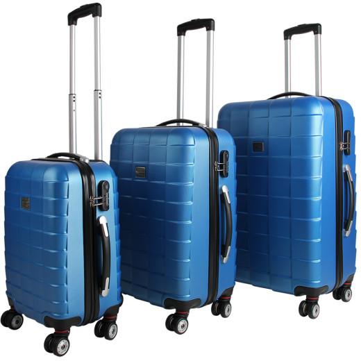 Kofferset Hartschale 3 tlg. Blau M/L/XL aus ABS 36l, 59l, 89l