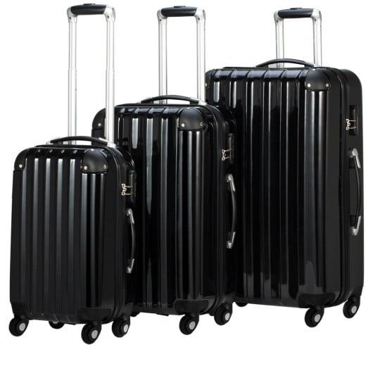 Koffer Hartschale Schwarz M/L/XL aus ABS 36l, 59l, 89l
