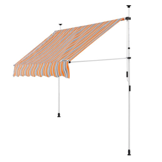 Clamp Awning Yellow/Blue 5ft