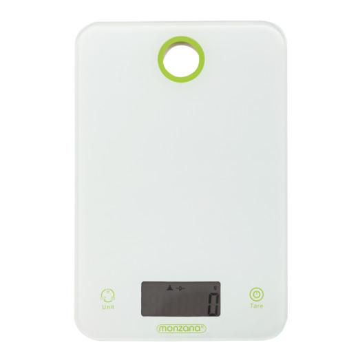 Digitale Küchenwaage Weiß/Grün Glas