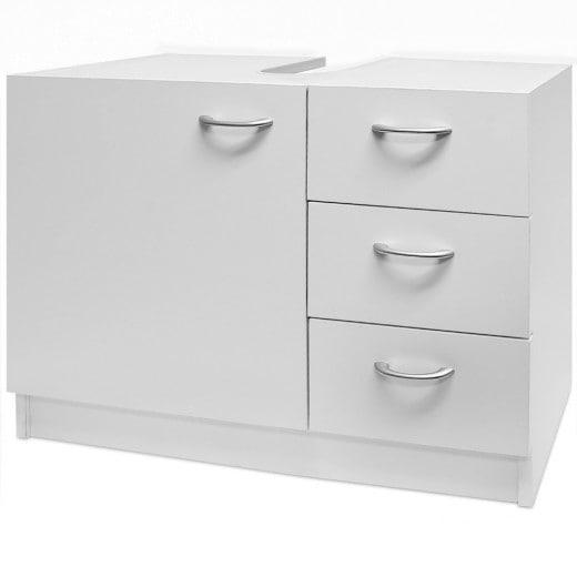 Waschbeckenschrank mit 3 Schubladen weiß