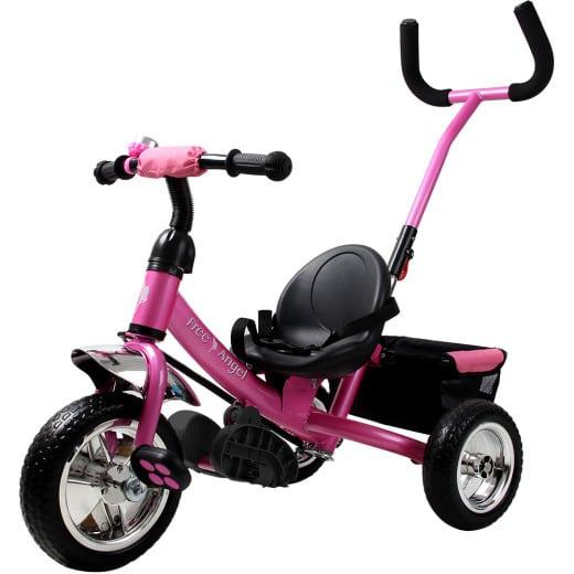 Kinderdreirad Free Angel - Metall - Schiebestange - Pink