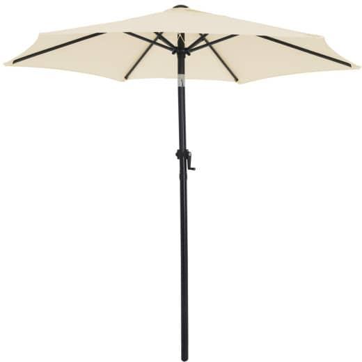Sonnenschirm Fiji Beige Ø200cm mit Kurbel