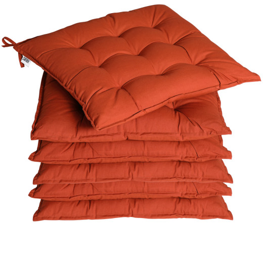 Sitzkissen 6er-Set Cozy Terracotta