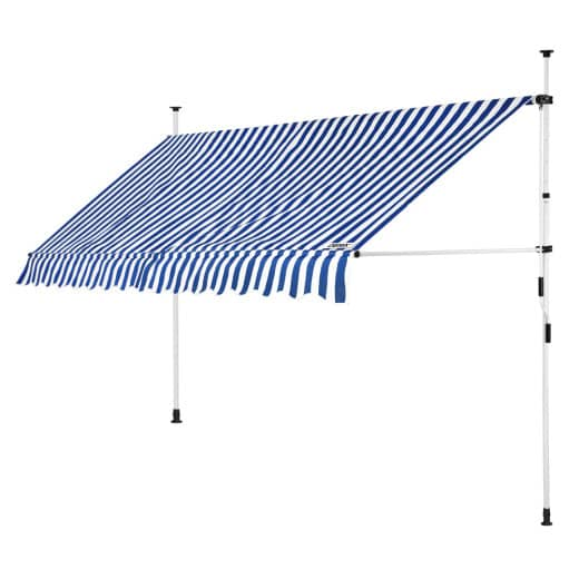 Clamp Awning White/Blue 13ft