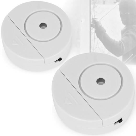 2x Glasbruchmelder Einbruchschutz inkl. Batterien in OVP