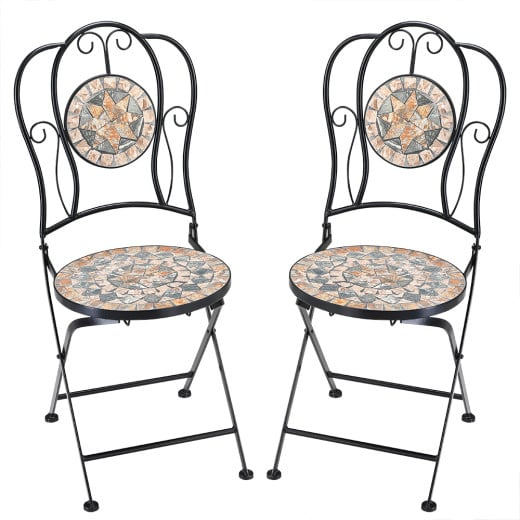 2 x Mosaik Stühle Malaga