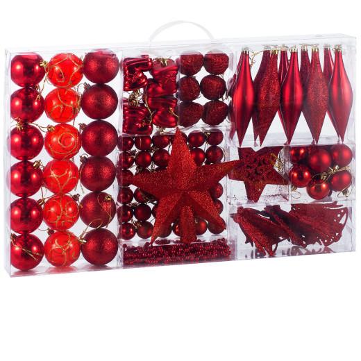 Weihnachtsbaumkugeln Rot 102 tlg.