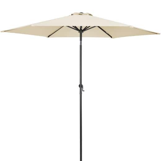 Sonnenschirm Beige Alu Ø300cm UV-Schutz 50+