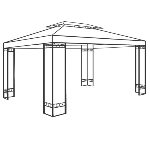Stahlgestänge Pavillon Elda 3x4m