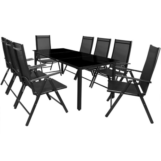 Sitzgruppe Bern 9-tlg. Anthrazit Alu