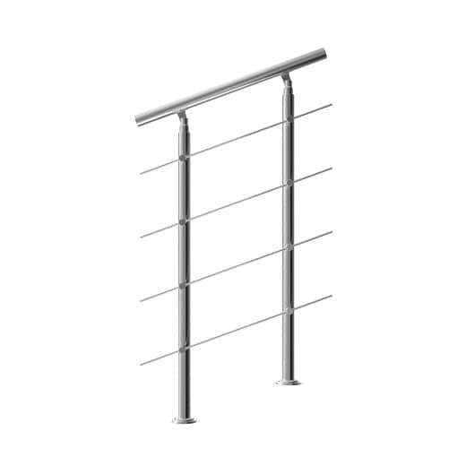 Treppengeländer Edelstahl 80cm 4 Streben