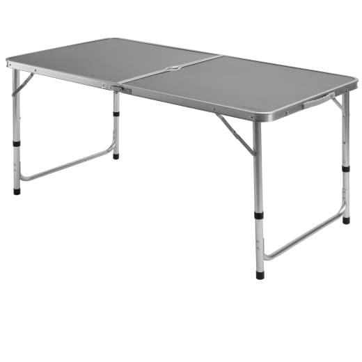 Klappbarer Campingtisch aus Aluminium in Grau